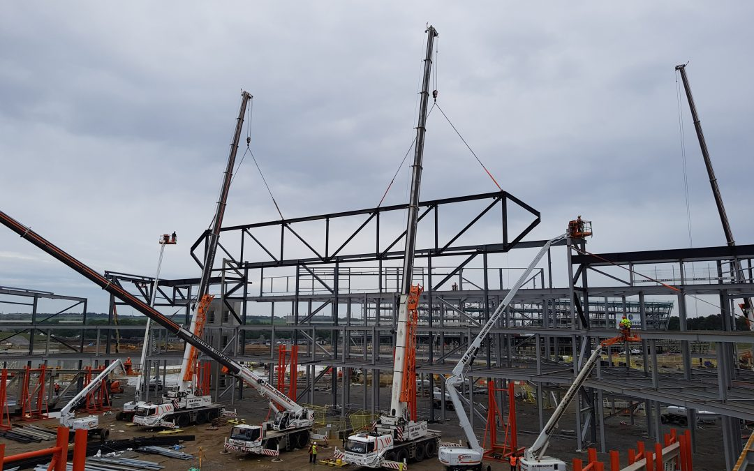 Structural Steelwork – AECC Exhibition Centre 31t Truss Lift Complete