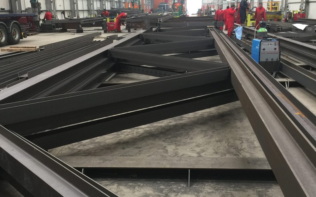 Structural Steelwork – Lidl RDC Bristol – Truss Fabrication
