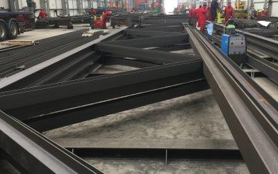 Structural Steelwork – Lidl RDC Bristol – Truss Fabrication