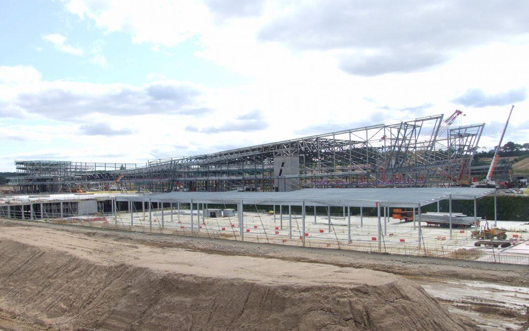 Structural Steelwork – AECC – Subterranean Car Park