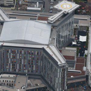 Queen Elizabeth hospital aerial view