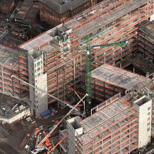 Glasgow City Campus - aerial photo