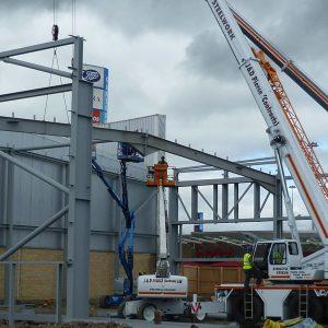 Glasgow Fort - Steel Erection - JDPierce