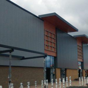 Gallagher Retail Park Cladding