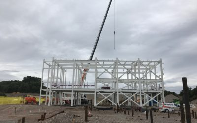 Structural Steelwork – Work begins on the Fish Food Farm Plant, Skye