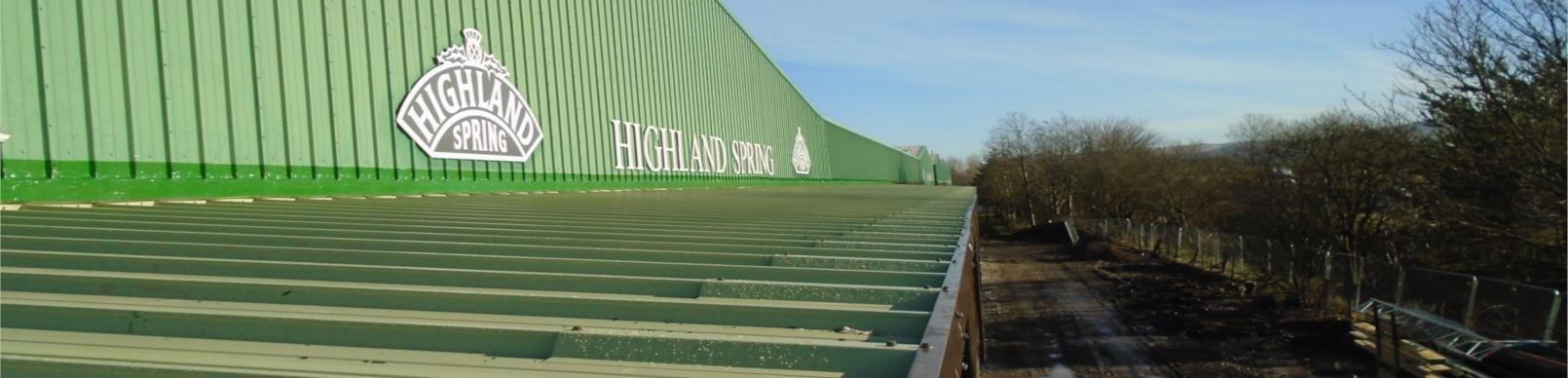 Highland Spring cladding