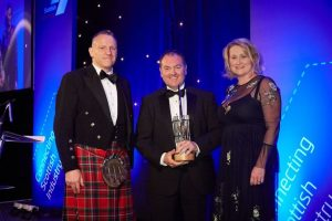 Derek Pierce receiving Scottish Engineering Award 2019