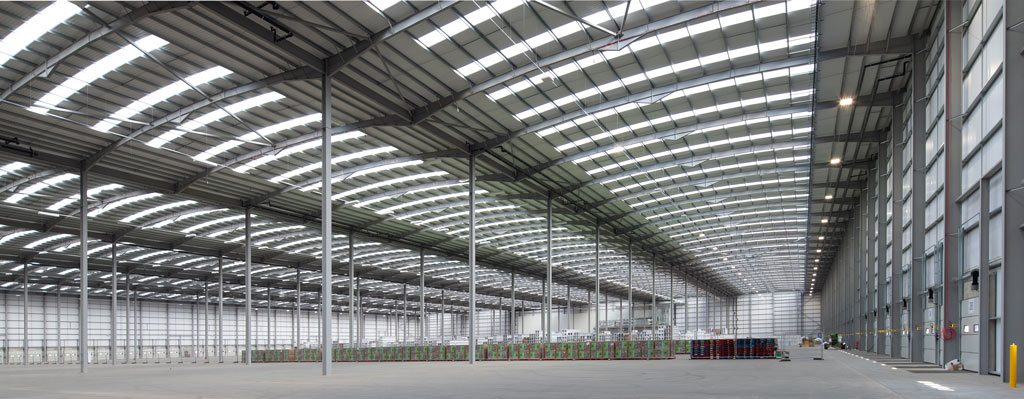 Interior-photograph-showing-construction-progress-on-Mulberry-Projects-Corby-Distribution-Centre-steelwork-and-construction-by-JD-Pierce-Contracts-Ltd-Scotland