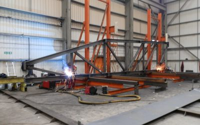 Structural Steel Truss Fabrication Well Under Way For Inchinnan Project