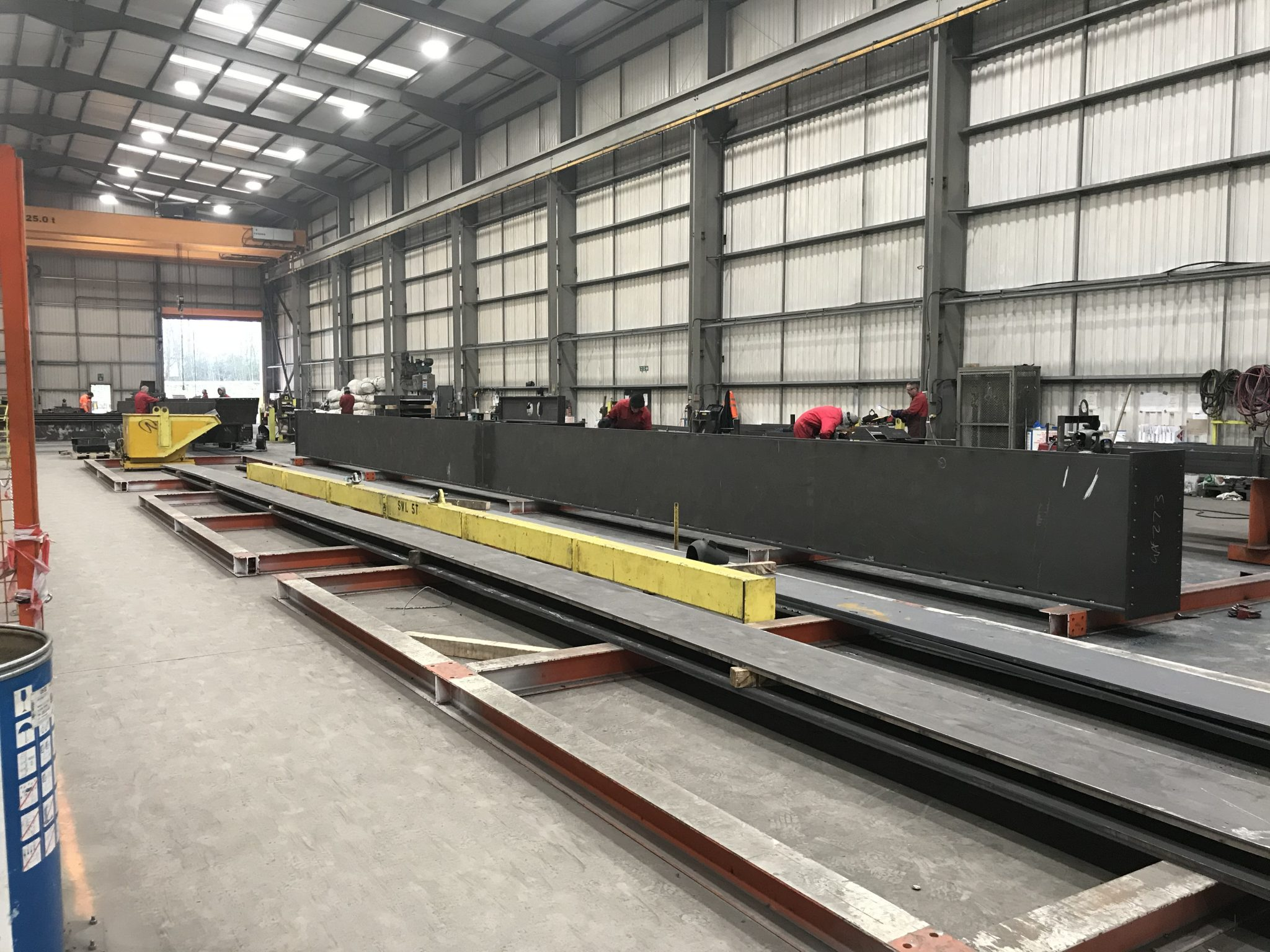Large Box Girder being fabricated