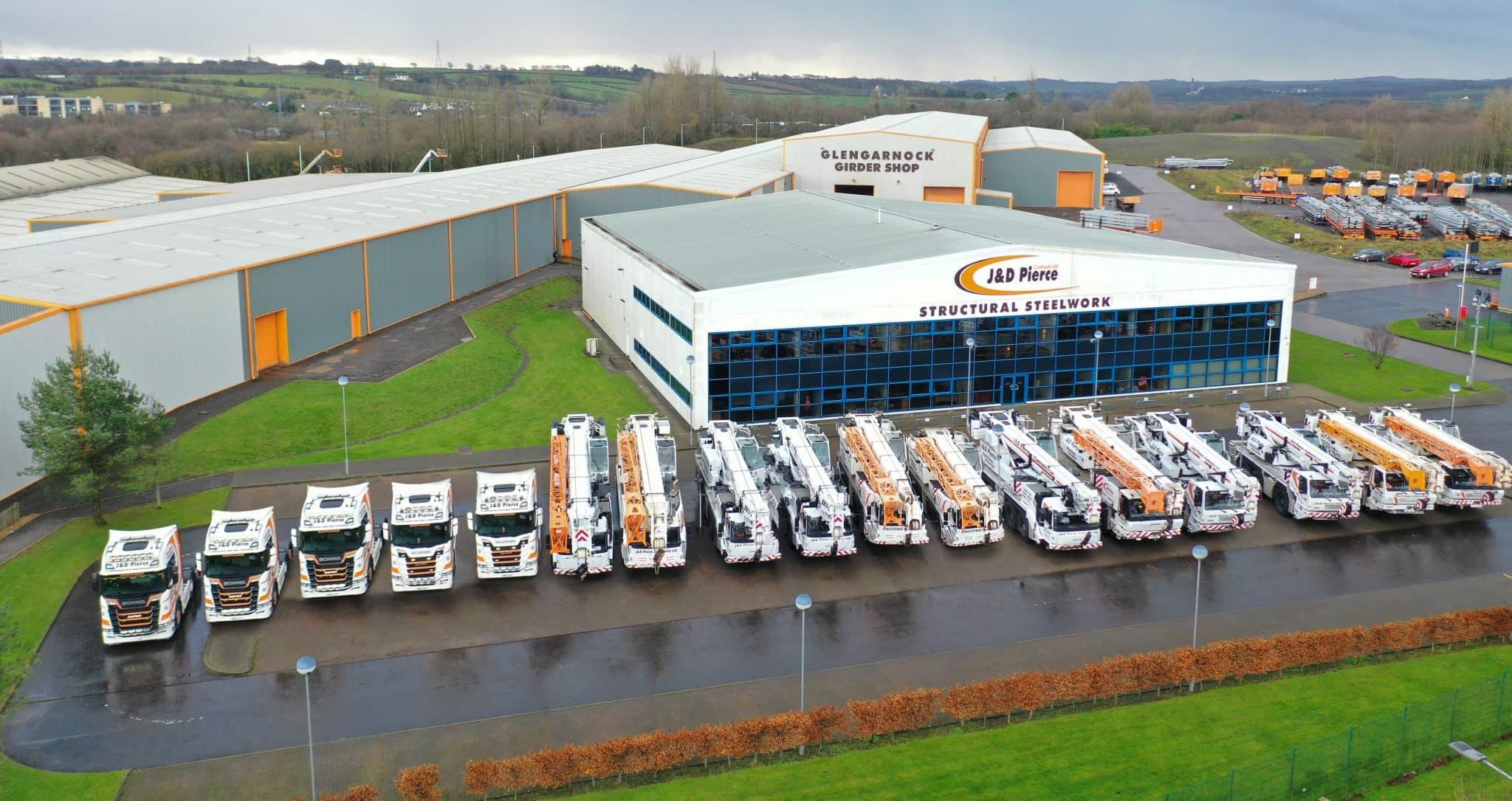 JD Pierce lorry and crane fleet