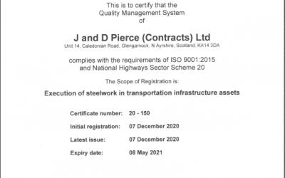NHSS20 Certification Recieved