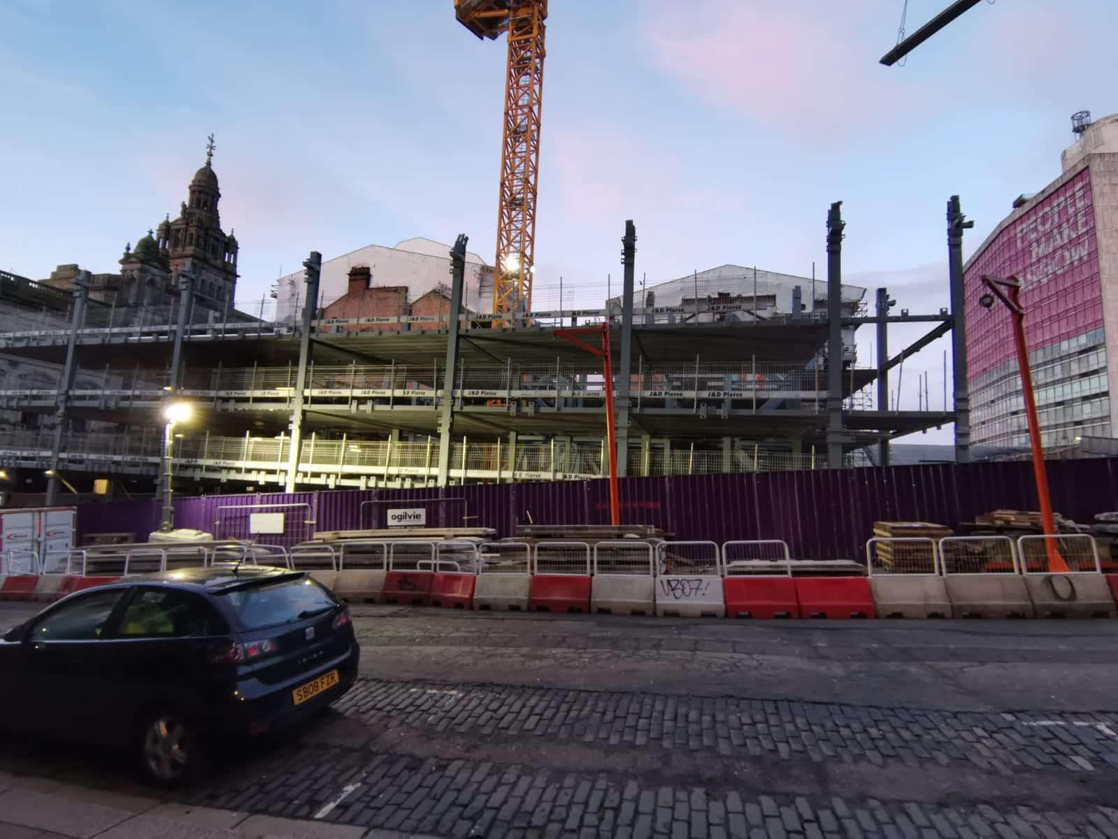 George Street Hotel - Glasgow - Structural steel