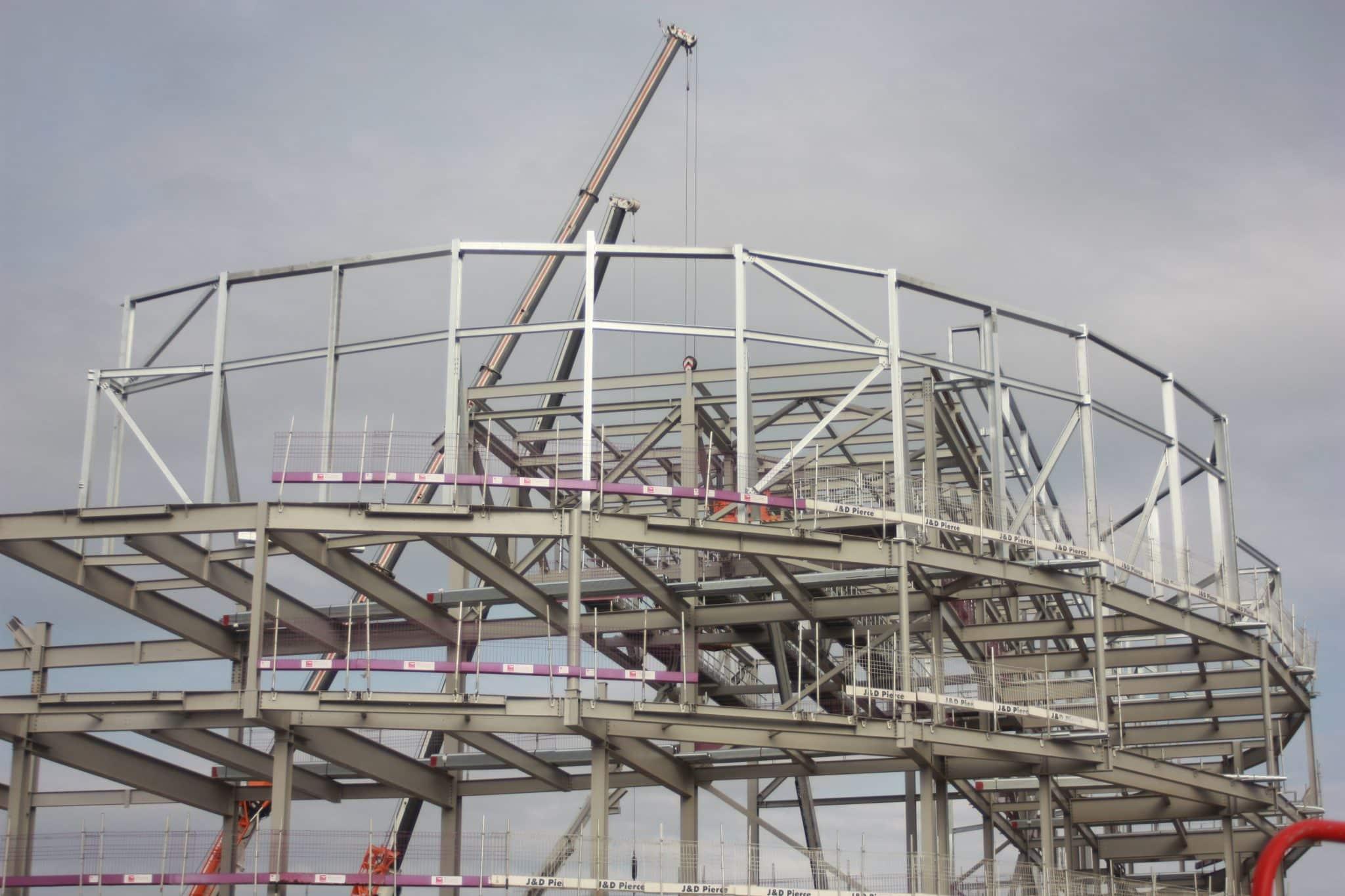 Swansea Arena - Structural Steel Frame - JDPierce