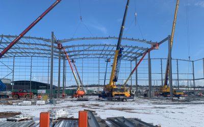 Dirft III Logistics Park New Warehouse Construction Begins