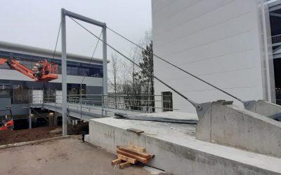 Ocado Andover Bridge Installation Complete