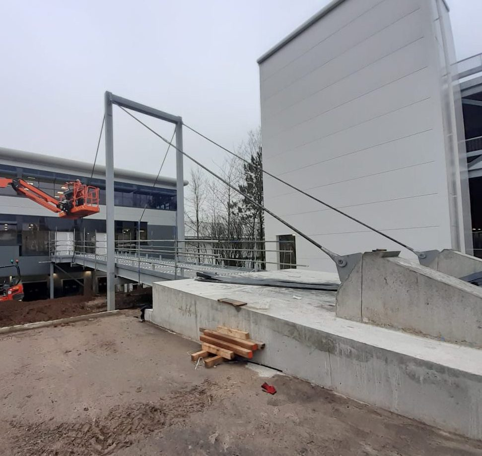 Ocado Andover Bridge Installation - JDPierce