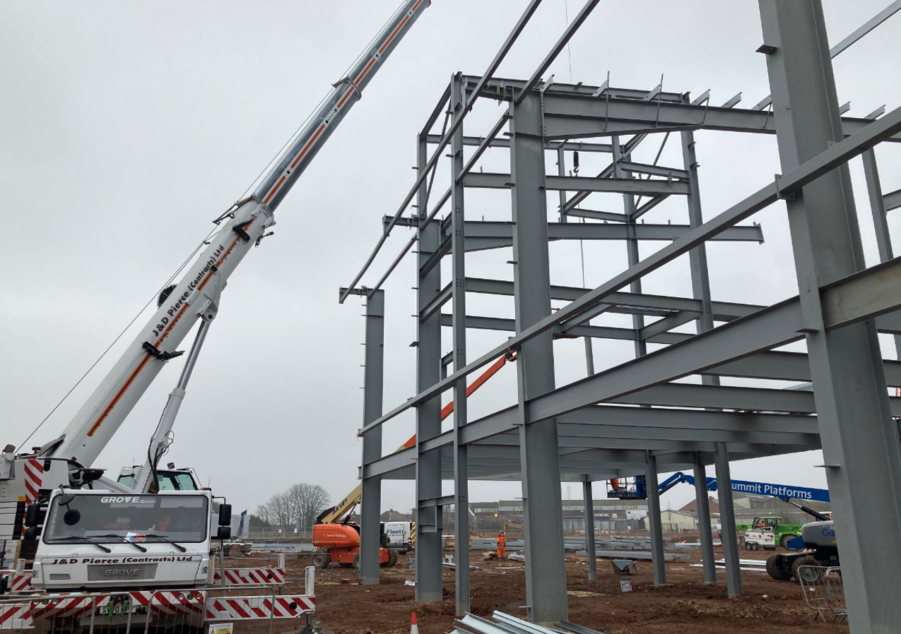 Mucklow Park steel erection