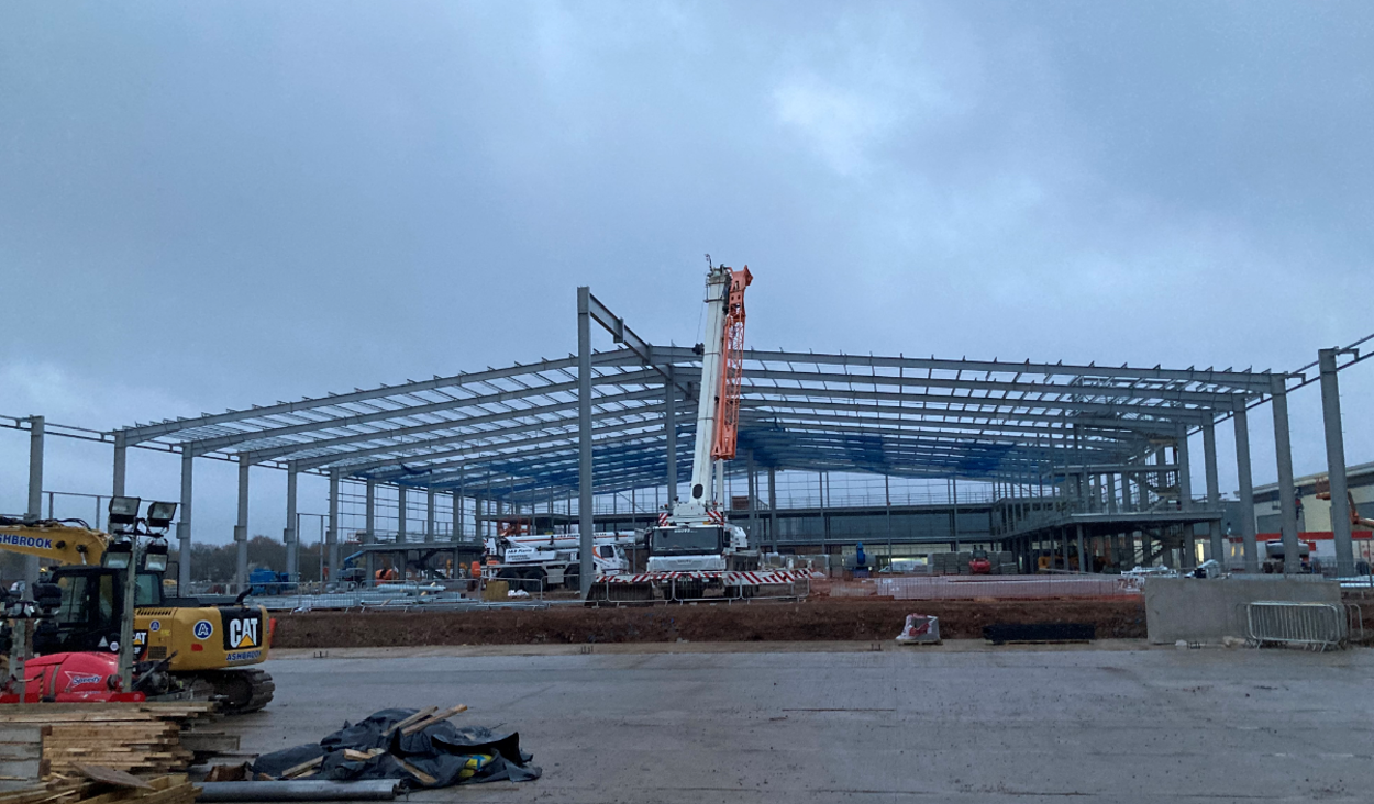 Mucklow Park Birmingham - Warehouse erection