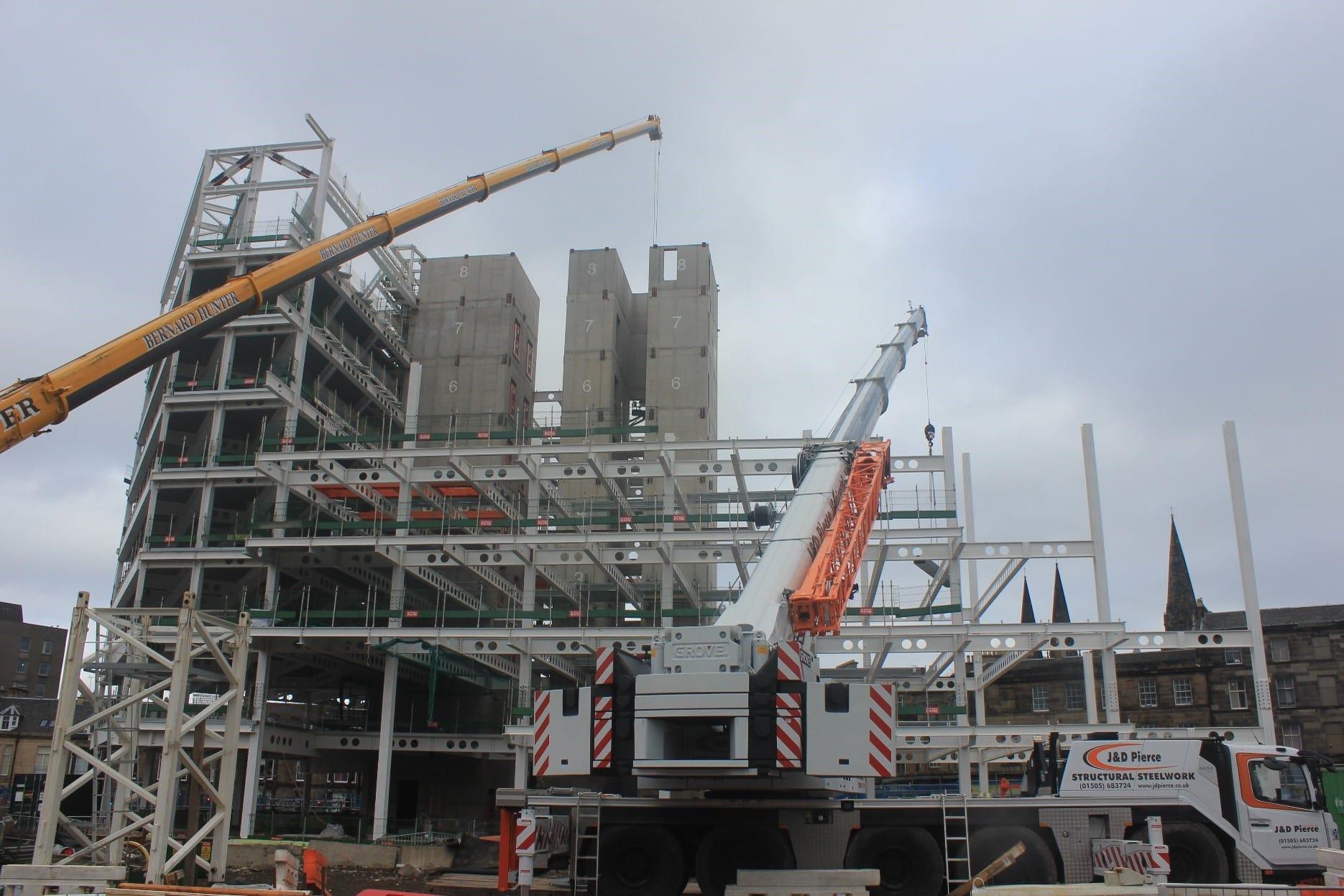 Haymarket project cranes