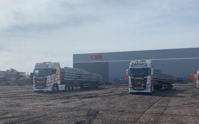 First Loads of Steel Arrive