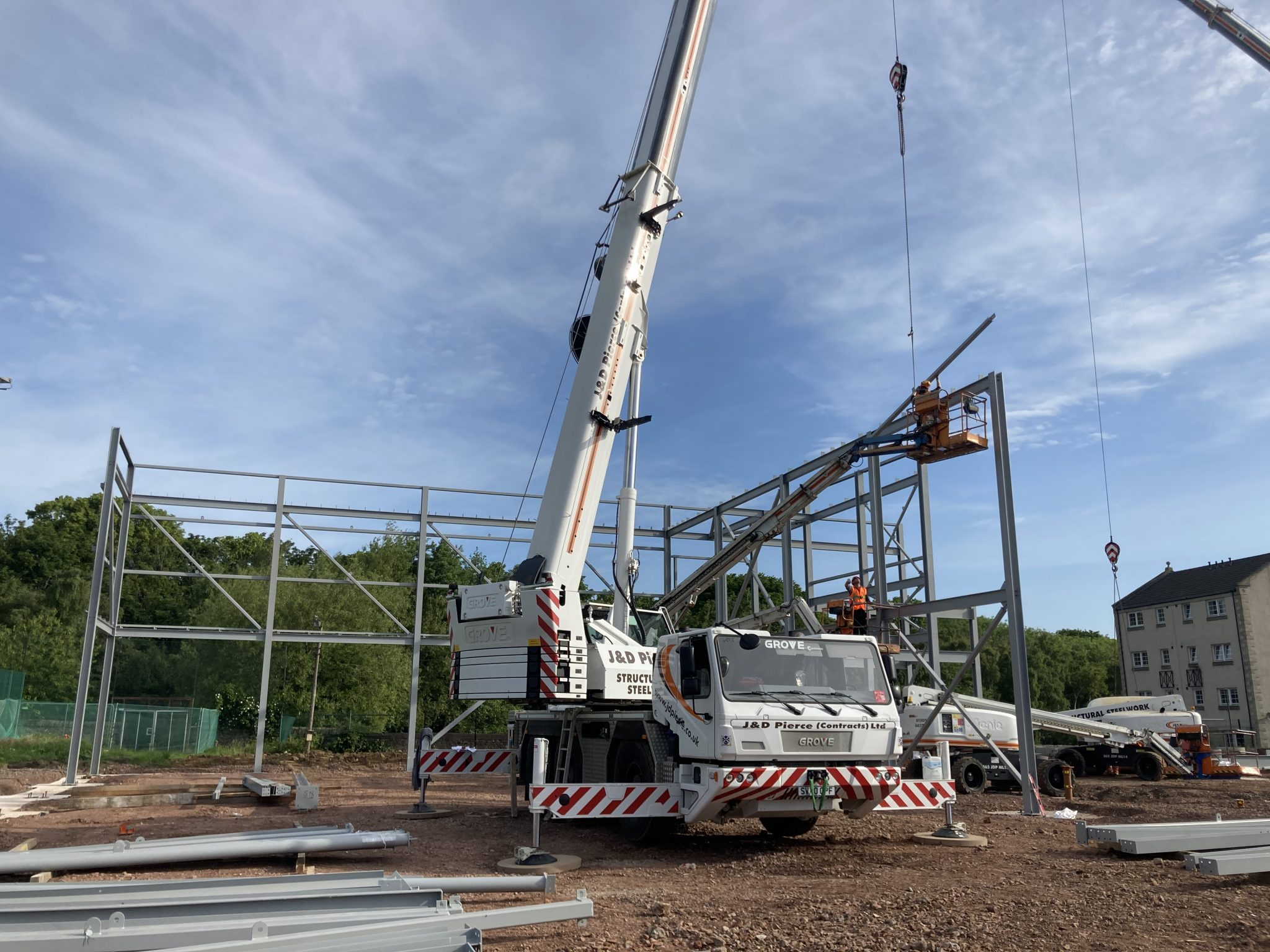 Bangholm Outdoor Centre First Steel Erected